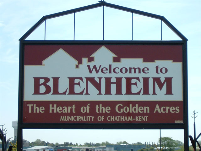 Blenheim sign