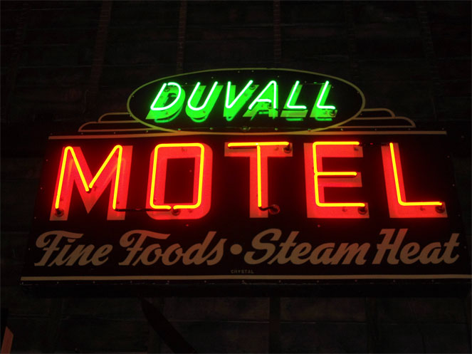 Duvall neon sign